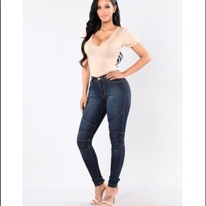 Fashion Nova High Waisted Dark Washed Jeans